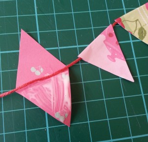 paper bunting for card